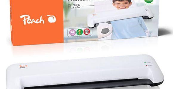 Laminátor Peach PL755, A3, 2x 125mic (PL755) bílý3