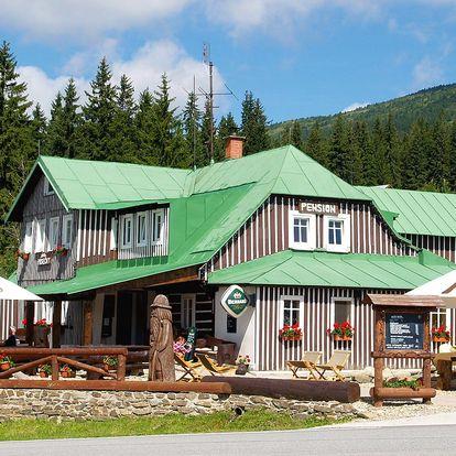 Stylová horská chata se snídaní v Kronoších