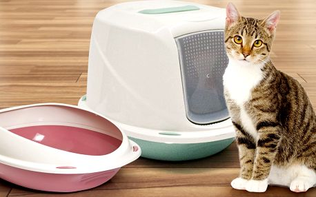 Uzavřené i otevřené toalety Argi pro kočičky
