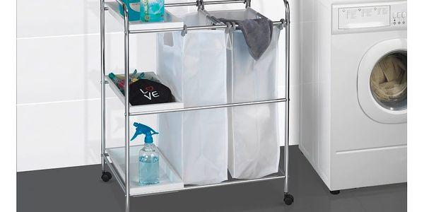 Pojízdný koš na prádlo s odkládacím systémem Wenko Arona, 64 l5