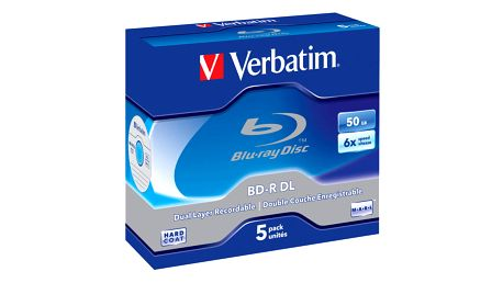 Disk Verbatim BD-R DL 50GB, 6x, jewel, 5ks (43748)