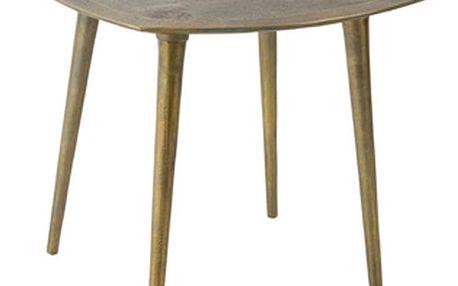 Mosazný odkládací stolek Dutchbone Abbas, 45 x 45 cm