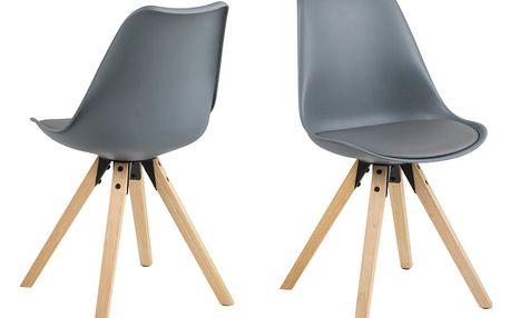 Sada 2 šedých jídelních židlí Actona Damia
