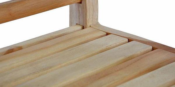 Divero 35093 Dřevěná 2-místná lavice pro děti z teakového dřeva2