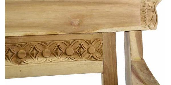 Divero 35093 Dřevěná 2-místná lavice pro děti z teakového dřeva3
