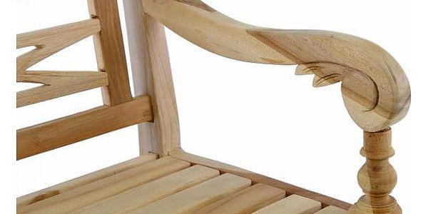 Divero 35093 Dřevěná 2-místná lavice pro děti z teakového dřeva5