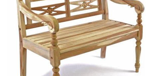 Divero 35093 Dřevěná 2-místná lavice pro děti z teakového dřeva
