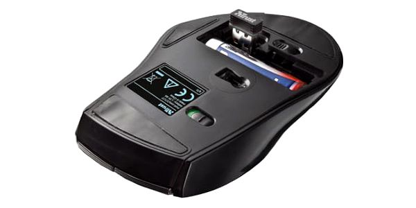 Myš Trust MaxTrack Wireless Mini (17177) černá/stříbrná / optická / 6 tlačítek / 1000dpi4