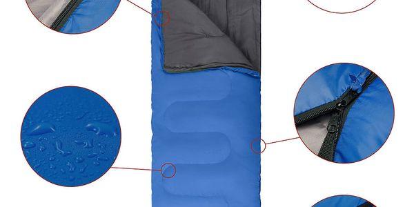 Spací pytel KING CAMP Oasis 250 modrý - levý zip4