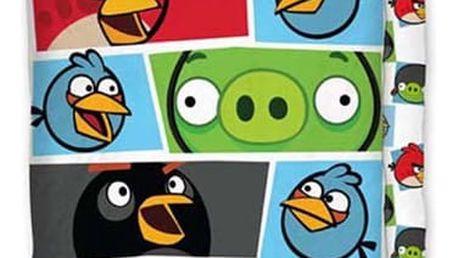 Halantex Bavlněné povlečení Angry birds 009 colour Povlečení bavlna - Angry birds 009 colour 1x 140/200, 1x 90/70