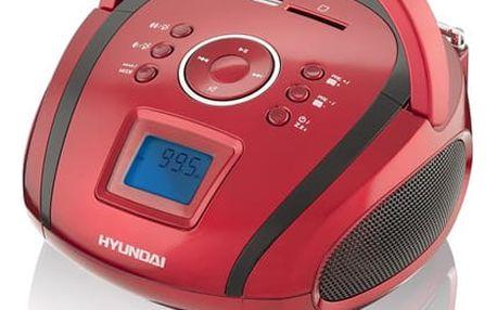 Radiopřijímač Hyundai TR 1088 SU3RB černý/červený