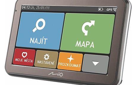 Navigační systém GPS Mio Spirit 7100 CZ/SK Lifetime černá (5413N5020073)
