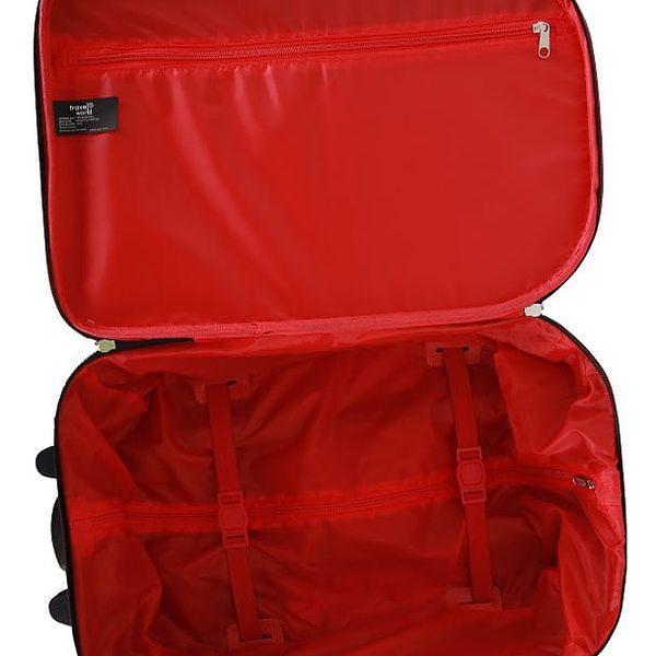 Sada 3 černých cestovních kufrů na kolečkách Travel World Let´s Go - doprava zdarma!3