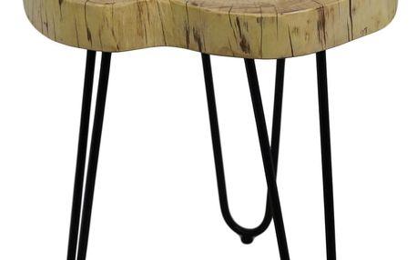 Odkládací stolek z akáciového dřeva HSM collection Live Edge, 43 x 45 cm