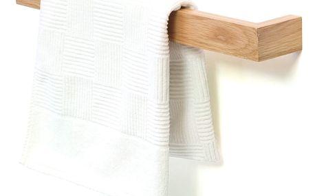 Nástěnný držák na osušky z dubového dřeva Wireworks Mezza, délka 60cm