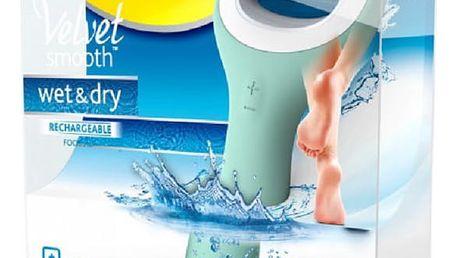 Elektrický pilník na chodidla Scholl Velvet Smooth Wet & Dry šedý/modrý