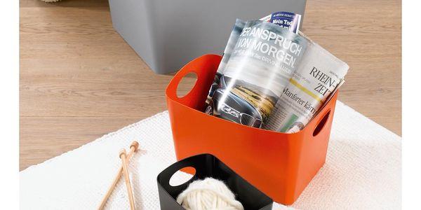 Škopek do koupelny BOXXX, kontejner, velikost S - barva šedá, KOZIOL2