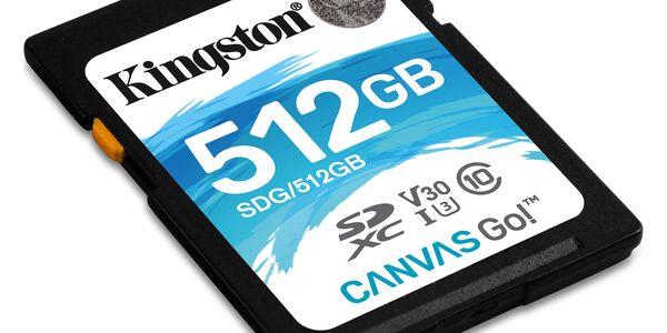 Paměťová karta Kingston SDXC 512GB UHS-I U3 (90R/45W) (SDG/512GB)2
