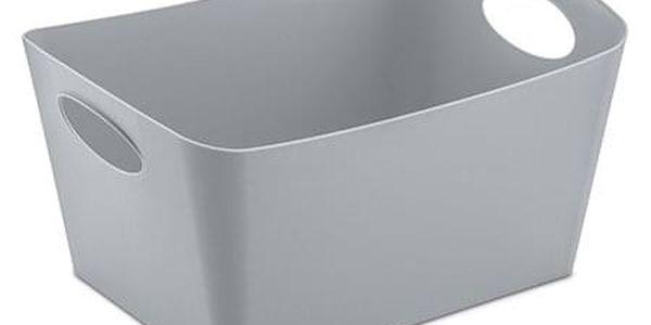 Škopek do koupelny BOXXX, kontejner, velikost S - barva šedá, KOZIOL