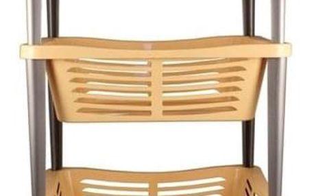 Pojízdný třípatrový košík Trio, 68 x 40 x 30 cm