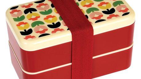 Dvoupatrový obědový box s příborem Rex London Tulip Bloom
