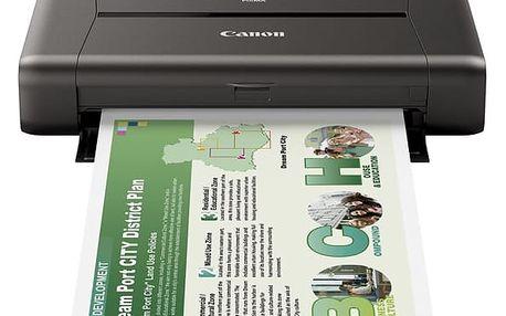 Tiskárna inkoustová Canon iP110 (9596B009AA) A4, 9str./min, 5str./min, 9600 x 2400, WF, USB + DOPRAVA ZDARMA