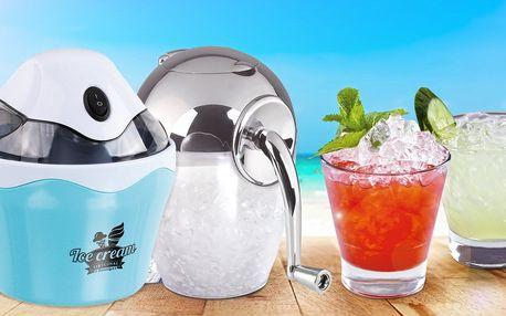 Ledové potěšení: ruční drtič ledu a zmrzlinovač