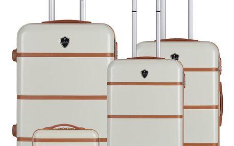Sada 4 béžových cestovních kufrů na kolečkách GENTLEMAN FARMER Integre & Vanity Duro