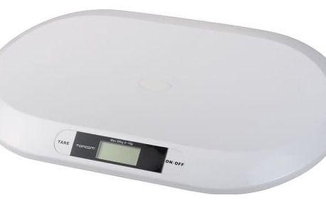 Kojenecká váha Topcom Digital BabyScale 2000, s rozlišením 10g bílá