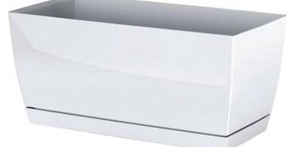 Prosperplast Plastový truhlík Coubi Case s miskou bílá, 39 cm