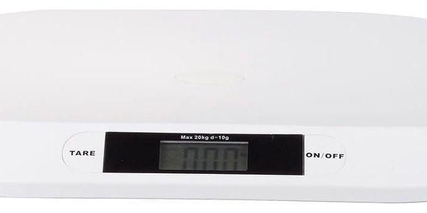 Kojenecká váha Topcom Digital BabyScale 2000, s rozlišením 10g bílá2
