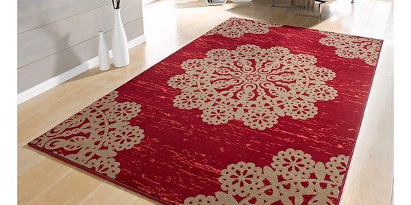 Červený koberec Hanse Home Gloria Lace, 120x170cm2