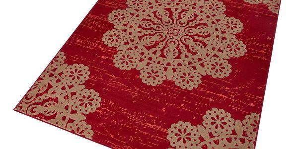 Červený koberec Hanse Home Gloria Lace, 120x170cm3
