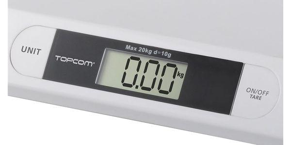 Kojenecká váha Topcom Digital BabyScale 2000, s rozlišením 10g bílá3