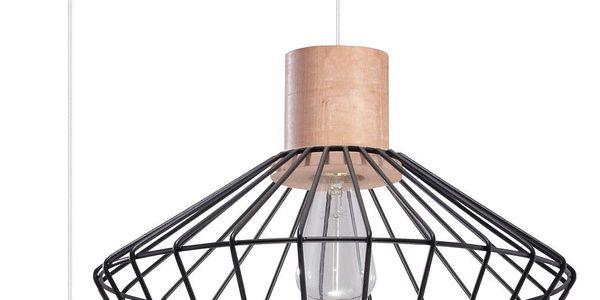 Černé závěsné svítidlo Nice Lamps Avilla - doprava zdarma!2