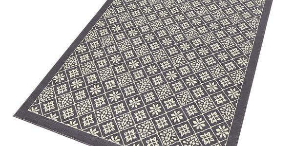 Šedo-béžový koberec Hanse Home Gloria Tile, 160x230cm2