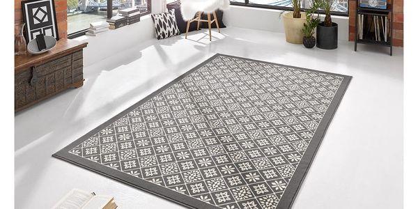 Šedo-béžový koberec Hanse Home Gloria Tile, 160x230cm4