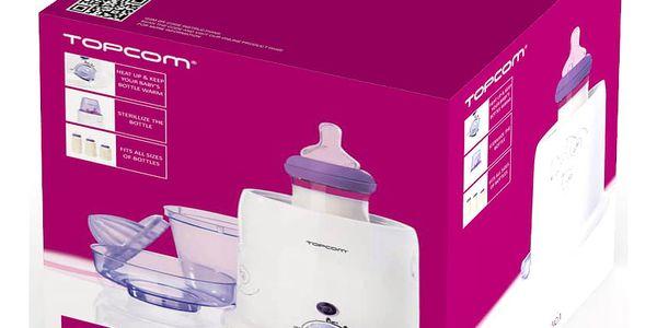 Ohřívač kojeneckých lahví Topcom 301 - 3v1 bílý/fialový5