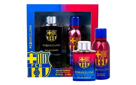 EP Line FC Barcelona EDT dárková sada M - EDT 100 ml + deospray 150 ml