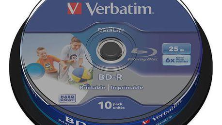 Disk Verbatim Printable BD-R SL 25GB, 6x, 10-cake (43804)