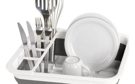 Skládací odkapávač na talíře, šálky, příbory, WENKO