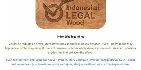 DIVERO 6144 Stolička kulatá z masivního SUAR dřeva2