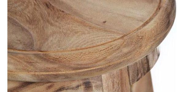DIVERO 6144 Stolička kulatá z masivního SUAR dřeva3