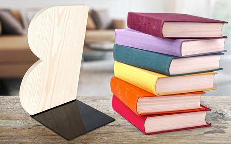 Dřevěná zarážka na knihy z borovicového dřeva