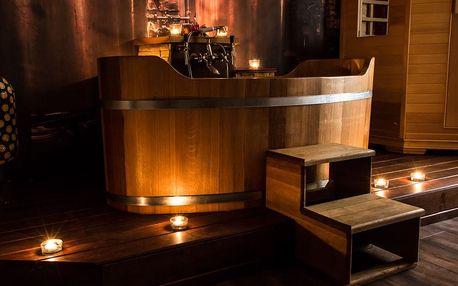 60min. romantická koupel pro dva vč. lahve vína