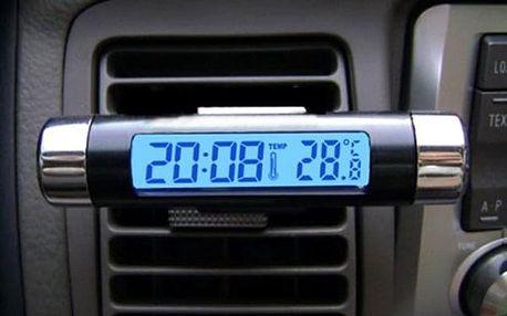 Teploměr do auta s hodinami a podsvícením - dodání do 2 dnů