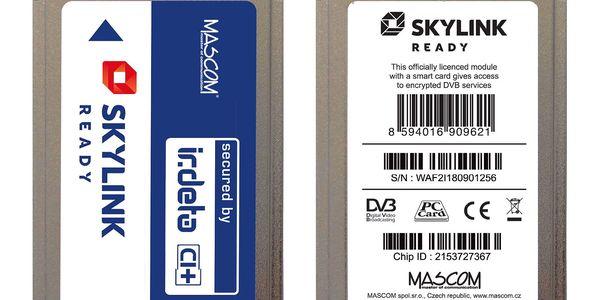 Modul Mascom Irdeto Skylink Ready CI+1.3 (CIM-SKY-IR CI+ MSC) stříbrné4