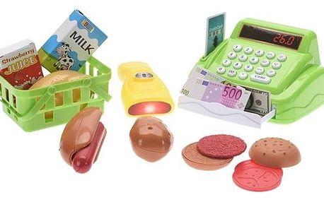 Dětský hrací set Pokladna, zelená