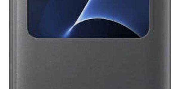 Pouzdro na mobil flipové Samsung pro Galaxy S7 Edge (EF-CG935P) (EF-CG935PBEGWW) černé3
