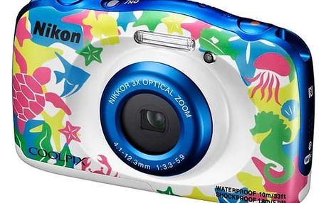Digitální fotoaparát Nikon W100 BACKPACK KIT (VQA014K001) + DOPRAVA ZDARMA